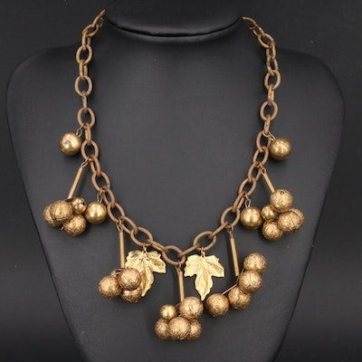 Grape Cluster Necklace Attributed to Miriam Haskell