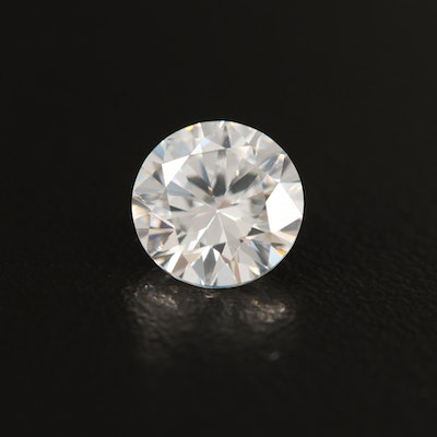 Loose Laboratory Grown Round Faceted Cubic Zirconia