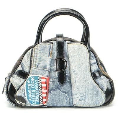 Christian Dior Miss Diorella Mini Double Saddle Bowler Bag