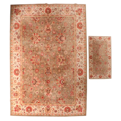 Hand-Knotted Pakistani Area Rug from The Rug Gallery and Machine Made Accent Rug