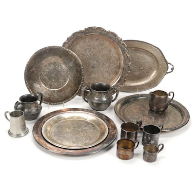 W. M. Rogers, Webster, and Other Silver Plate Serveware and Tableware