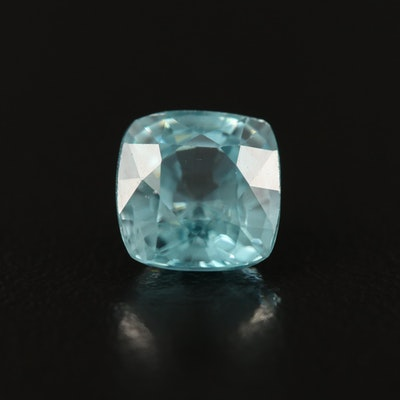 Loose 2.89 CT Cushion Faceted Zircon