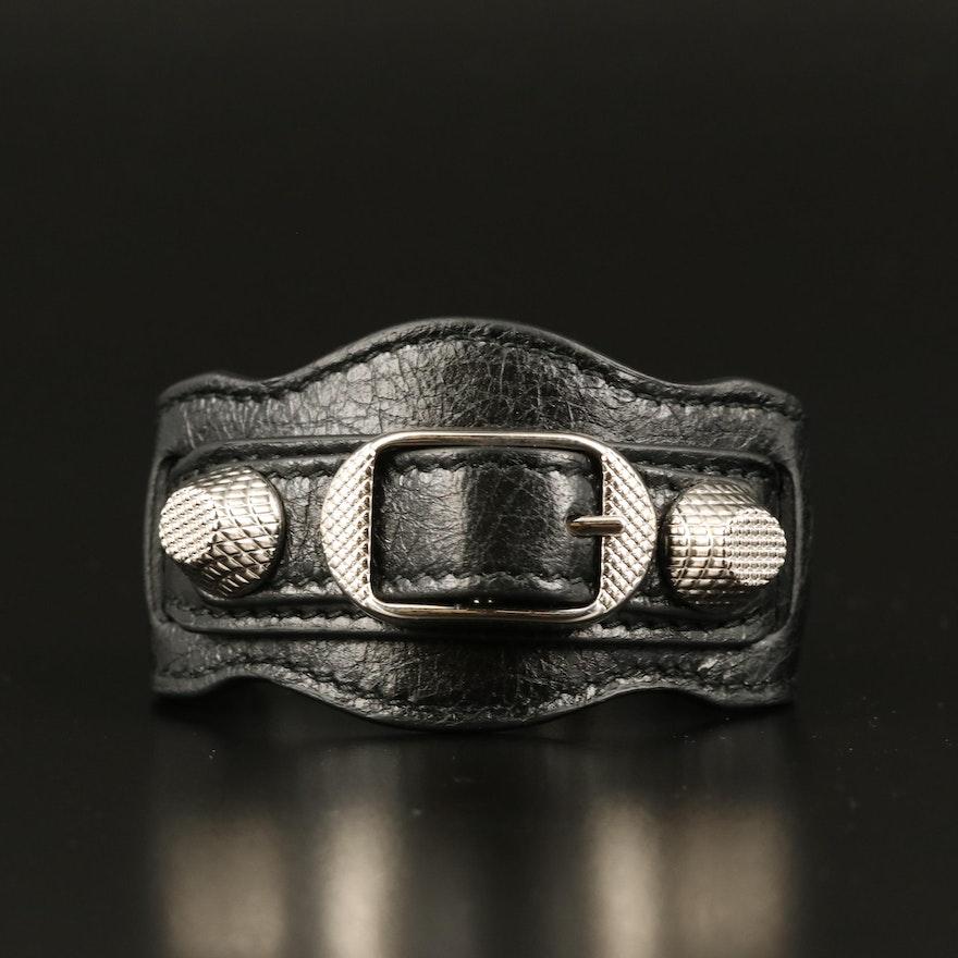 Balenciaga Arena Leather Bracelet