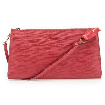 Louis Vuitton Accessories Pochette 24 Bag in Red Epi Leather