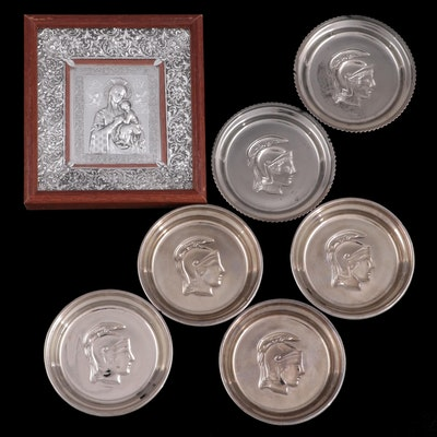 Our Lady of Perpetual Help Icon  with Roman Soldier Head Coasters