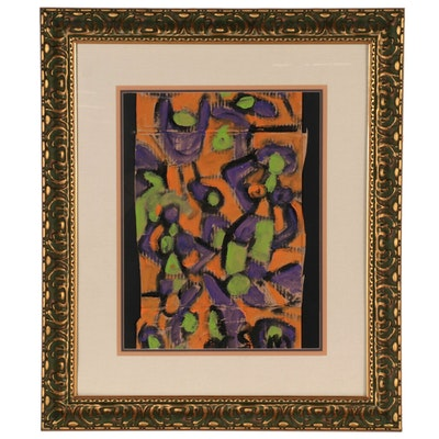 Miklós Németh Abstract Oil Painting of Dancing Figures