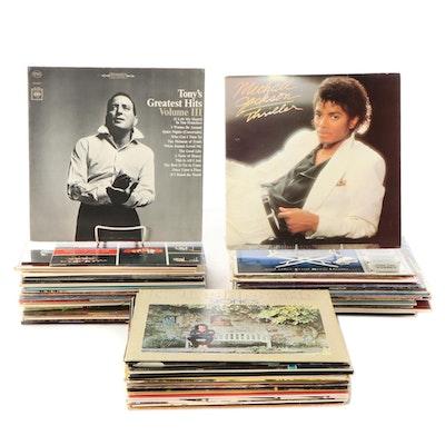 Michael Jackson, The Carpenters, Barry Manilow, Dokken, Other Vinyl LP Records