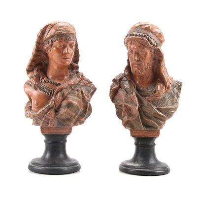 Resin Reproduction Pedestal Busts after L. Buese