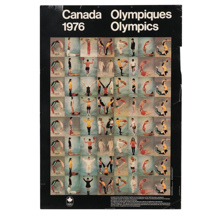 Canadian Olympics Offset Lithograph Poster After N.E. Thing Co., 1976