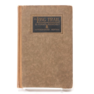 """Signed """"The Long Trail"""" Autographed Edition by Kermit Roosevelt, 1921"""