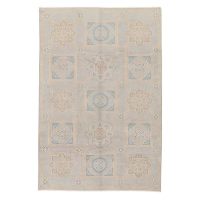 5'11 x 9' Hand-Knotted Indo-Turkish Oushak Rug, 2010s