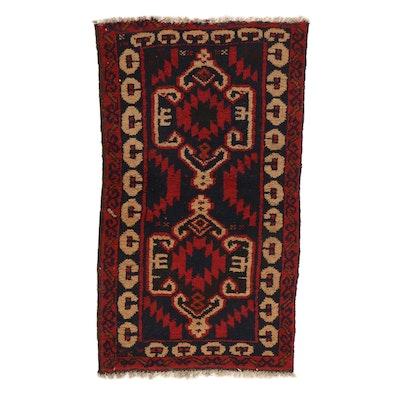 2'6 x 4'3 Hand-Knotted Persian Zanjan Rug, 1990s
