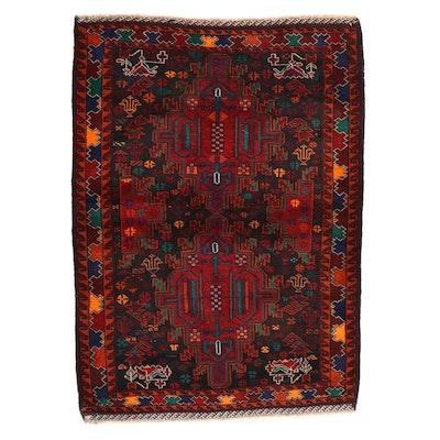 3' x 4'3 Hand-Knotted Persian Birjan Khorasan Rug, 2000s