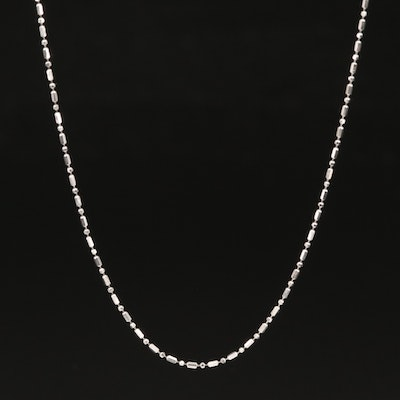 14K Ball and Tube Bead Chain Necklace