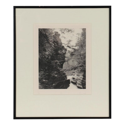 """Diane Hunt Photo Etching """"Grotto I,"""" 1984"""