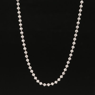 14K Bead Chain Necklace