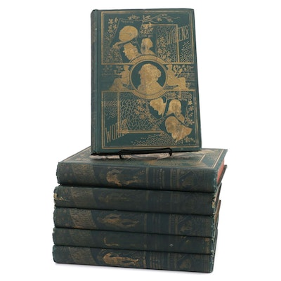 """Collier's Unabridged Edition """"The Works of Charles Dickens"""" Complete Set, 1870"""