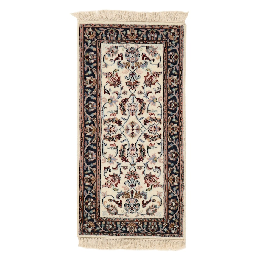 2' x 4'3 Hand-Knotted Indo-Persian Tabriz Rug, 2010s