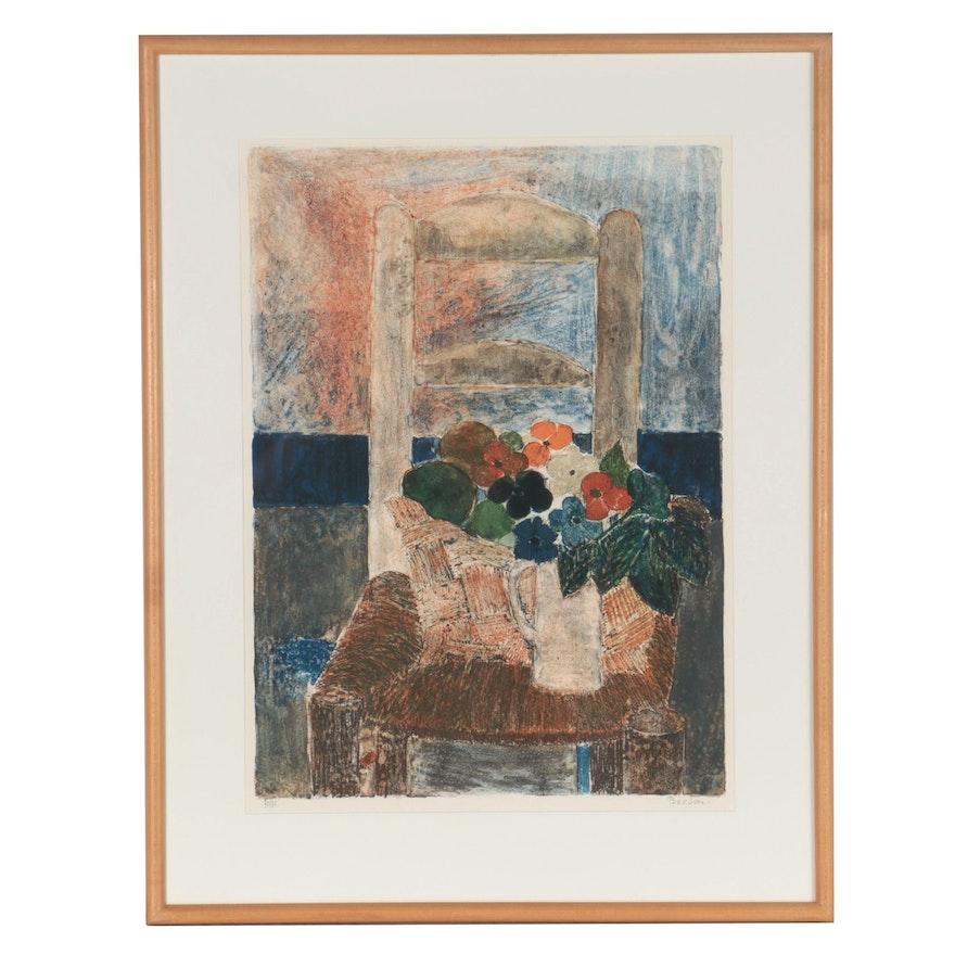 "Guy Bardone Color Lithograph ""La Chaise"""