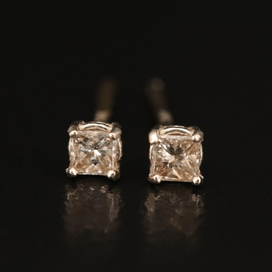 14K 0.17 CTW Diamond Stud Earrings