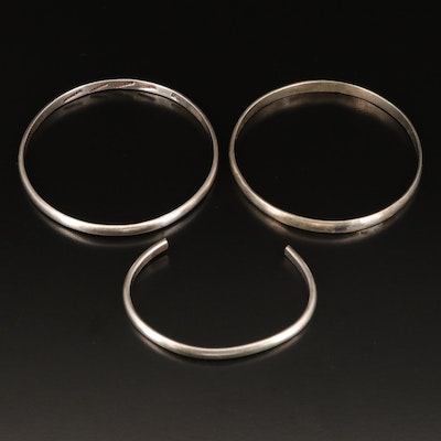 Mexican Sterling Bangles and Cuff