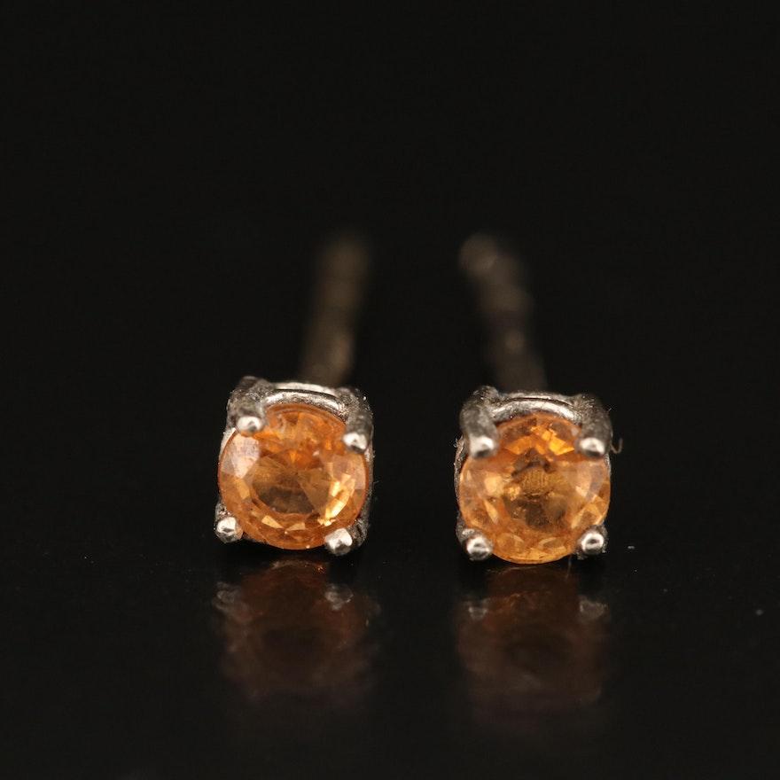 14K Citrine Stud Earrings