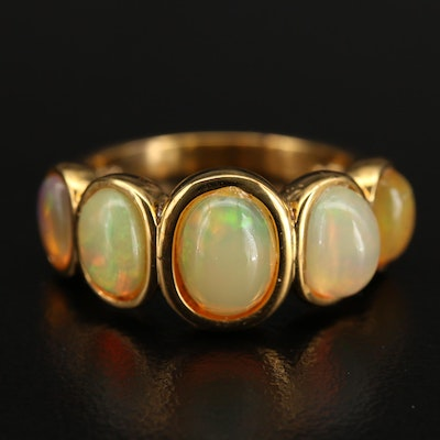 Sterling Opal Five Stone Ring
