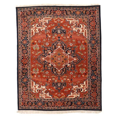 8' x 10'7 Hand-Knotted Indo-Persian Heriz Area Rug