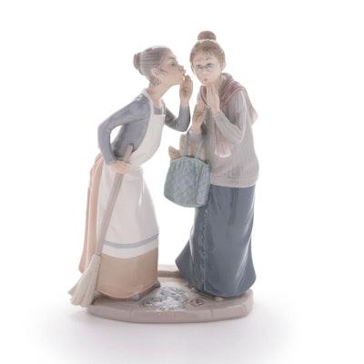 "Lladró ""Gossip"" Porcelain Figurine Designed by José Roig"