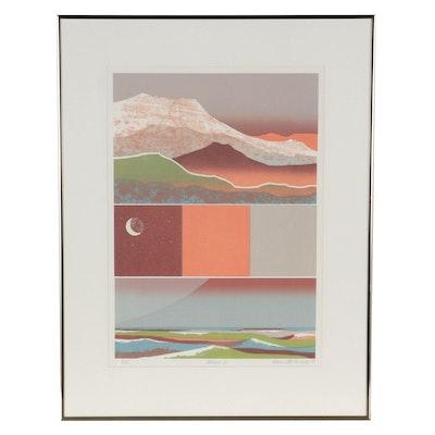 """Alvena McCormick Serigraph """"Genesis II,"""" 1979"""