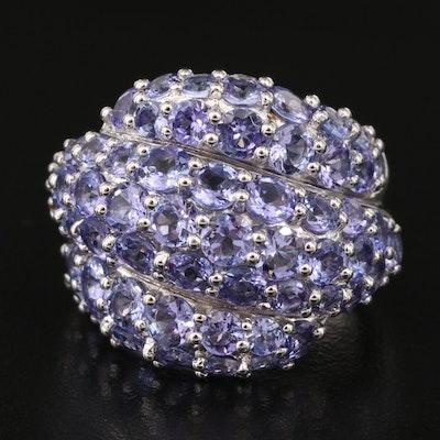 Sterling Silver Tanzanite Bombé Ring