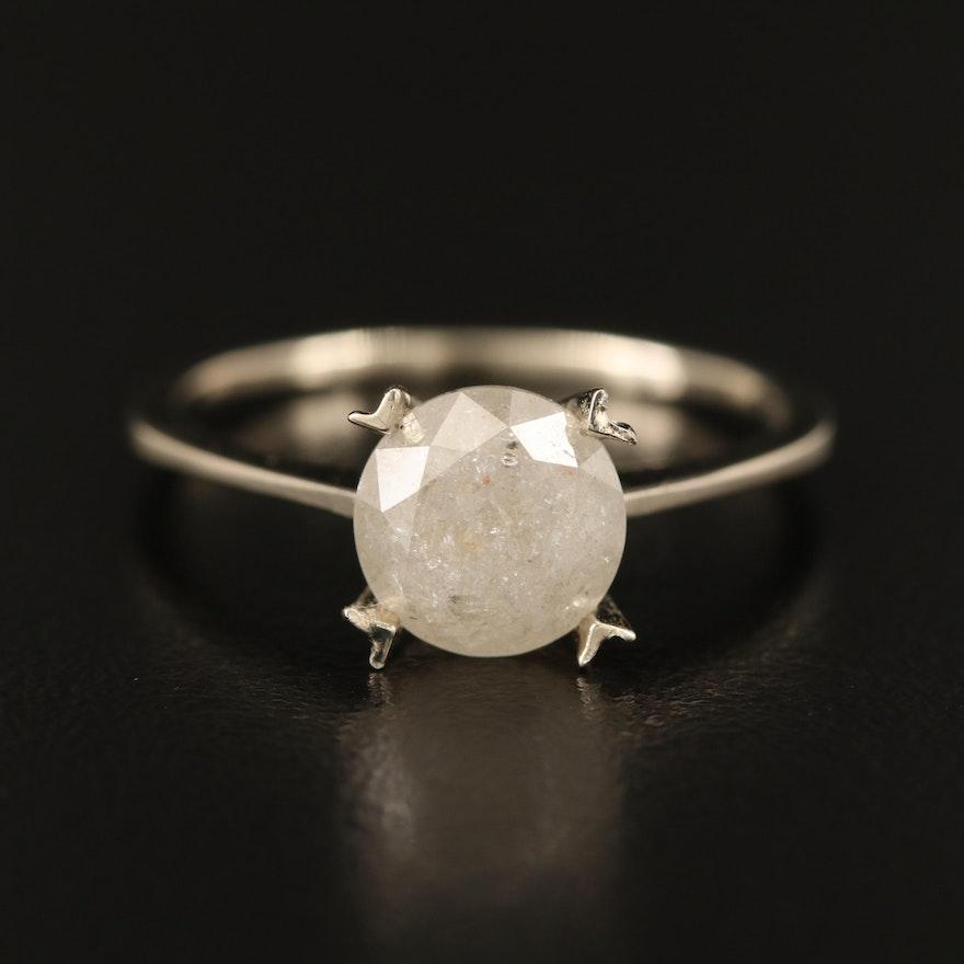 14K 2.10 CT Diamond Solitaire Ring