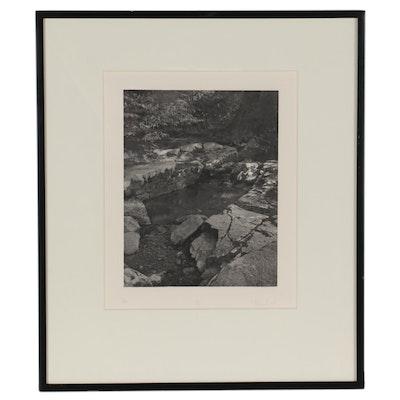 "Diane Hunt Photo Etching ""Grotto V,"" 1984"