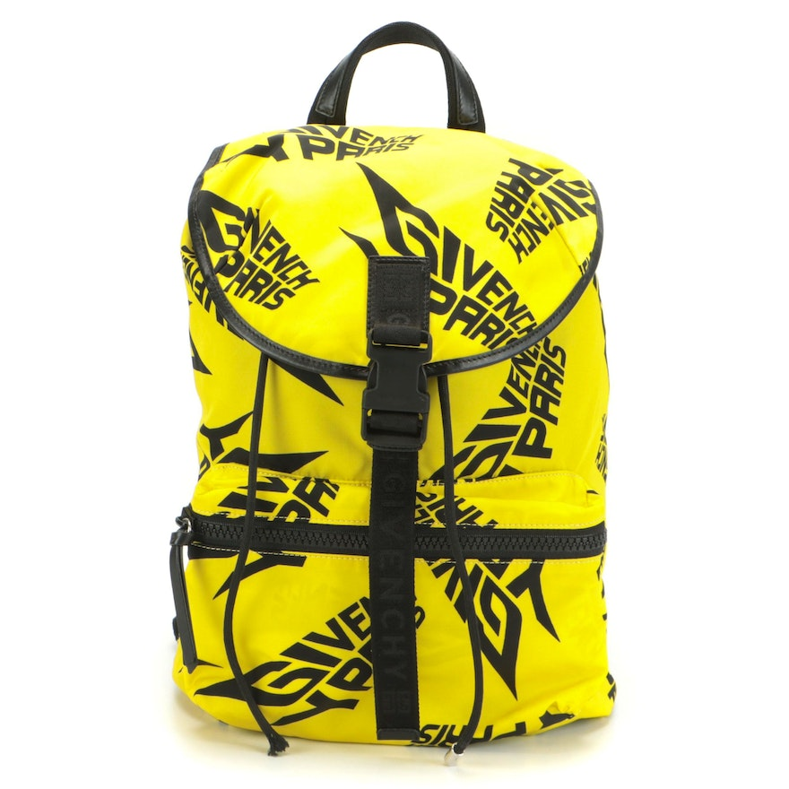 Givenchy Light 3 Backpack in Yellow/Black Nylon