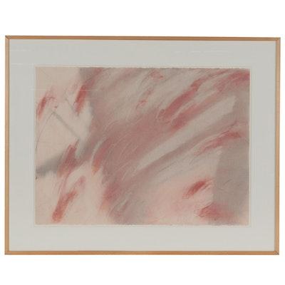 "Debra Van Tuinen Abstract Pastel Drawing From ""Oriental Umbrella Series"""