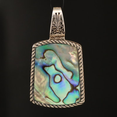 Sterling Abalone Enhancer Pendant
