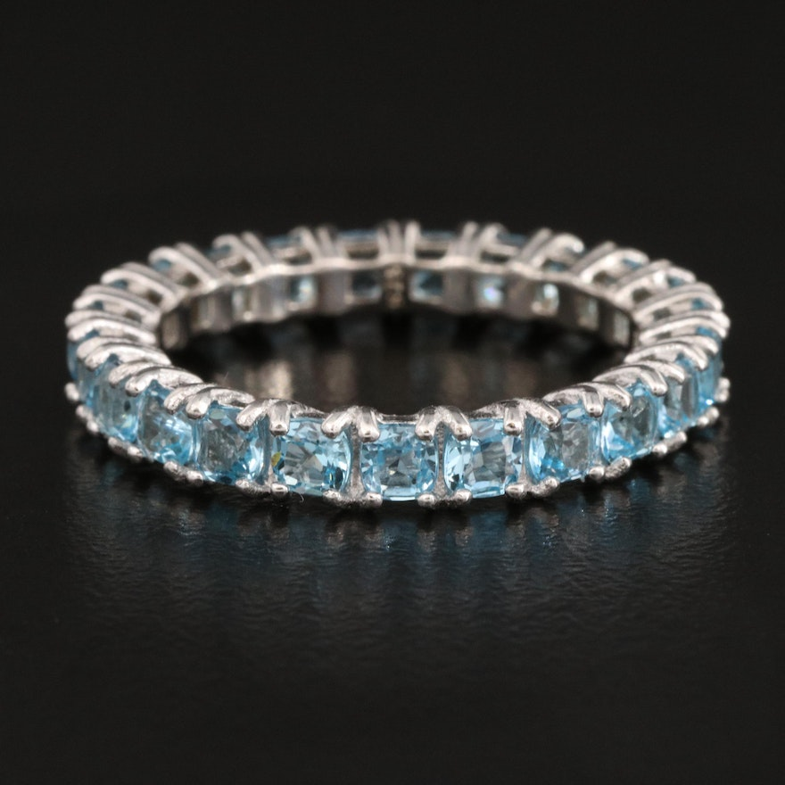 Sterling Silver Topaz Eternity Band