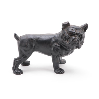 Cast Iron Bulldog Coin Bank