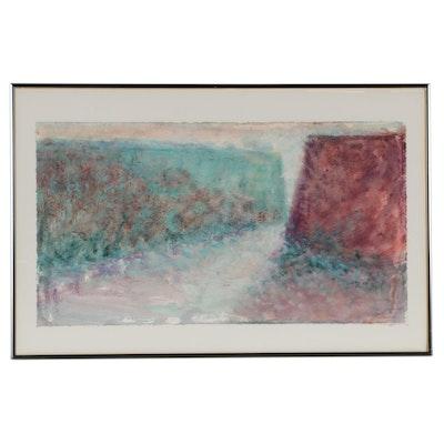 Jim Sullivan Abstract Acrylic Painting, Late 20th Century
