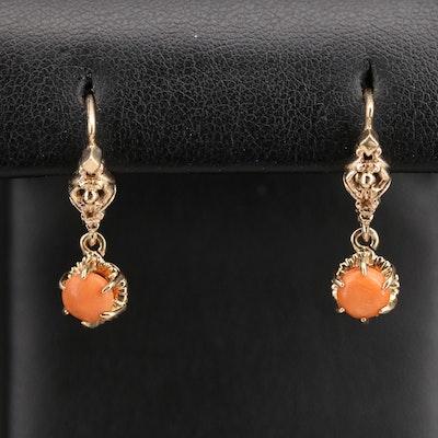 Vintage 14K Coral Earrings