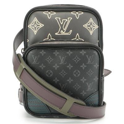 Louis Vuitton Amazone Patchwork Sling Bag in Eclipse Monogram Canvas