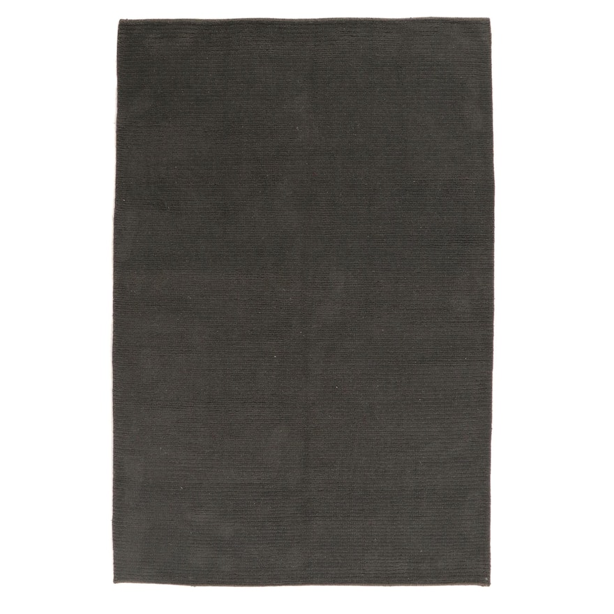 5'8 x 9' Hand-Knotted Indian Modern Rug, 2010s