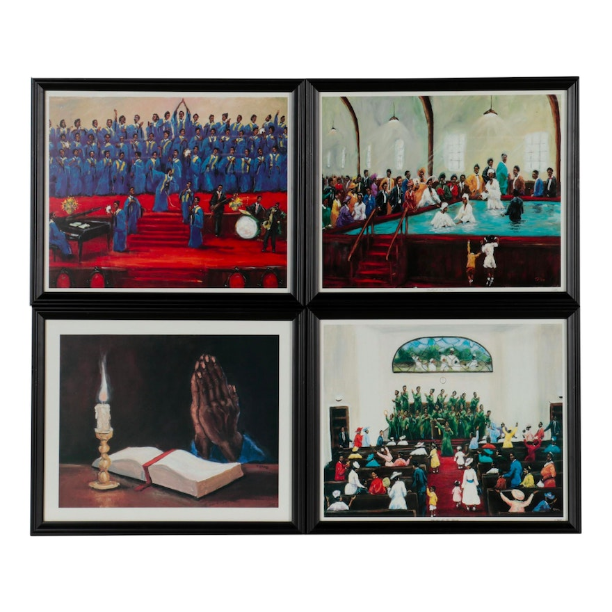 Spirituality-Themed Offset Lithographs after Ted Ellis