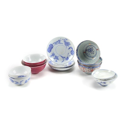 Japanese Arita Porcelain Bowls and Other Japanese Tableware