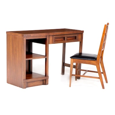Mid Century Modern Desk and Side Chair, Including Johnson-Carper Furniture Co.
