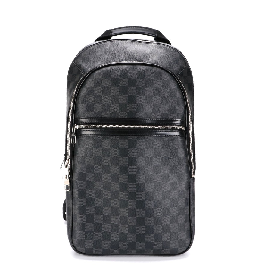 Louis Vuitton Michael Backpack in Damier Graphite Canvas