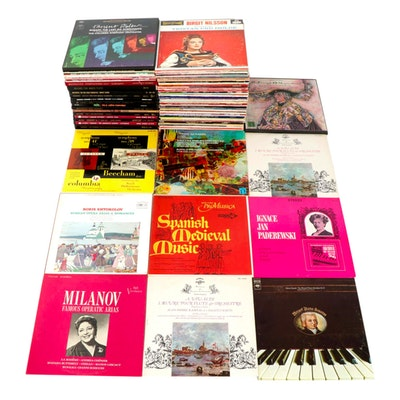 Classical and Instrumental Records Featuring Mozart, Vivaldi and Paderewski