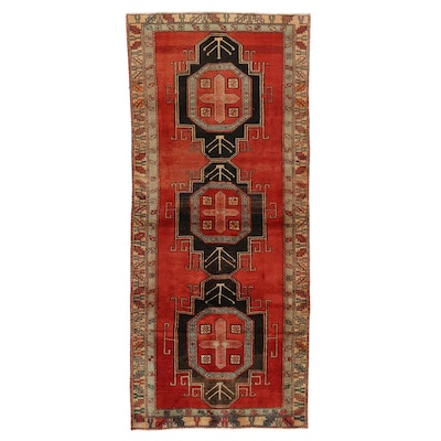 4' x 9'3 Hand-Knotted Northwest Persian Long Rug, 1960s