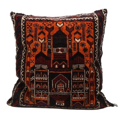 Handwoven Persian Baluch Accent Pillow, 1950s