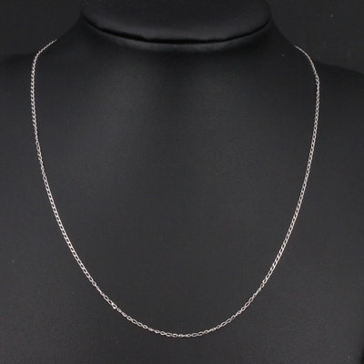 Italian 14K Curb Link Necklace